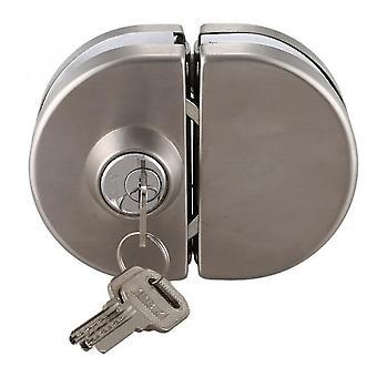 1 set dubbele open glazen deurslot roestvrij staal dubbele bout schuifdeur slot 10-12mm kantoorglas