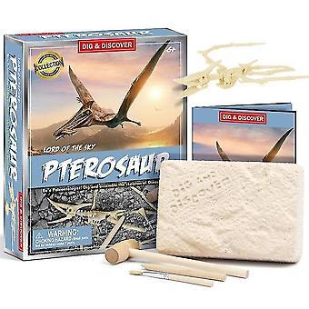 Kinderen 6+ educatieve diy dinosaurus fossiele archeologische graven speelgoed (D7148)