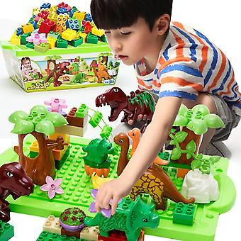40pcs恐竜の建物は、男の子と女の子のための子供のインタラクティブな教育おもちゃ知的発達おもちゃをブロックします
