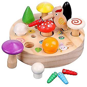 Zabawki edukacyjne Dzięcioł magnetyczny Grzyb