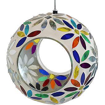 Hanging Bird Feeder Mosaic Circle For Outdoor Decoration