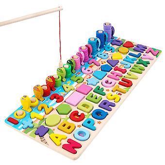 Hat az egyben Horgászegyeztetés Logaritmus Board Gyermeknevelés Korai Oktatás Alfanumerikus megismerés Fajátékok