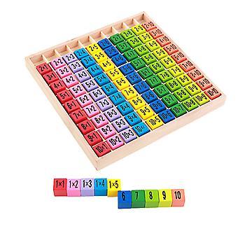 Lasten kasvatus puinen lelu kertotaulu matematiikka koulu aritmeettinen