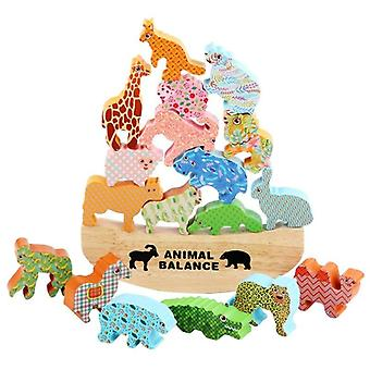 Animal Balance Blocks Toy Kit Children Wooden Stacking Dinosaur Toys For Kids Hand |Blocks