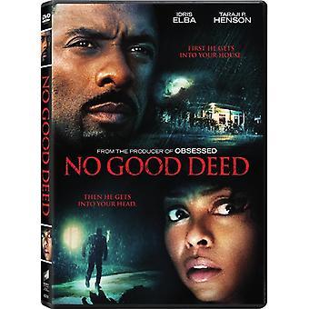 Ingen god gerning [DVD] USA importerer