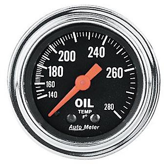 Auto Meter 2441 Traditional Chrome Mechanical Oil Temperature Gauge