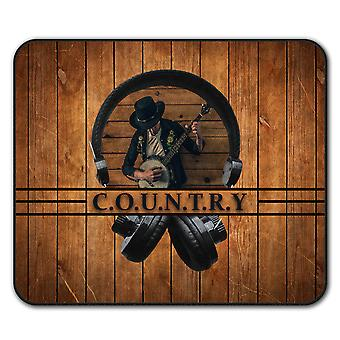 Country Song Dance  Non-Slip Mouse Mat Pad 24cm x 20cm | Wellcoda