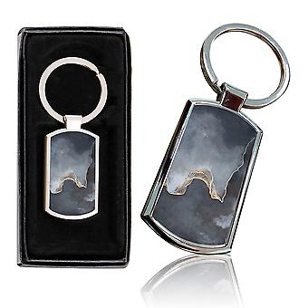 i-Tronixs - Premium Marble Design Chrome Metal Keyring with Free Gift Box (3-Pack) - 0017