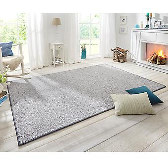 Design carpet wolly in wool grey