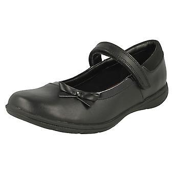 Meisjes Clarks haak & lus Bow School schoenen Venture Star