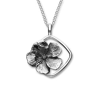 Sterling Silver Traditional Scottish February Violet Birth Flower Hand Crafted Necklace Pendant