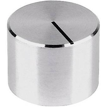 Mentor 521.6191 Aluminium-Drehknopf, schwarze Markierung, schützende Oberfläche