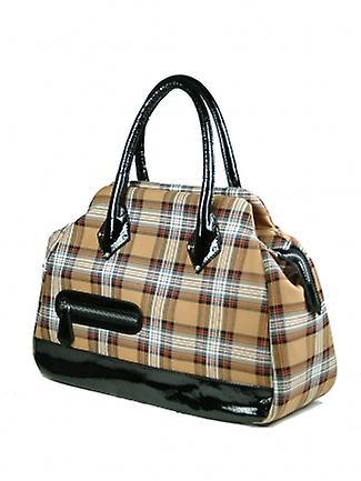 Tartan Handbag E (Stewart Camel)