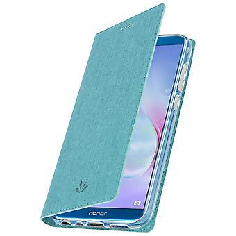 Window flip case, standing case by Vili for Honor 9 Lite - Blue