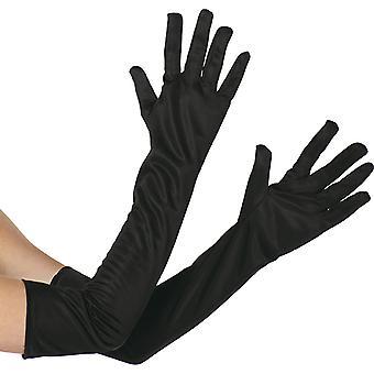 Mănuși negru extra lung accesoriu Carnavalul Glove Halloween