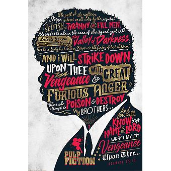 Pulp fiction plakat Ezekiel 25:17 91,5 x 61 cm