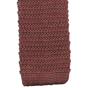 Knightsbridge Neckwear Knitted Tie - Brown