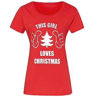 Christmas Shop Womens/Ladies This Girl Loves Christmas Short Sleeve T-Shirt
