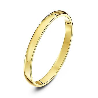 Star Wedding Rings 18ct Yellow Gold Light D 2mm Wedding Ring
