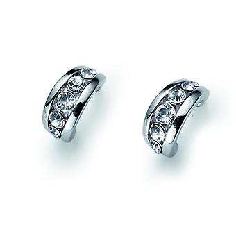 Oliver Weber Post Earring Slip Rhodium Crystal