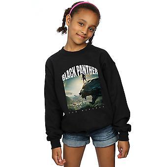 Marvel Mädchen Black Panther für Wakanda Sweatshirt