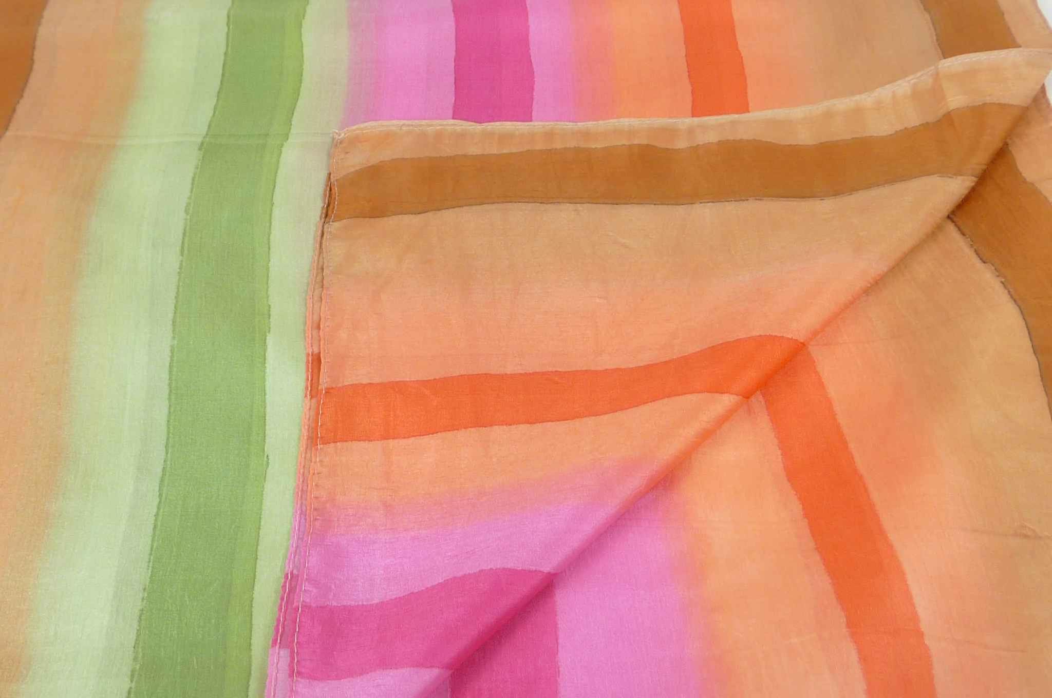 Mulberry Silk Classic Long Scarf Kulkani Rainbow Palette by Pashmina & Silk