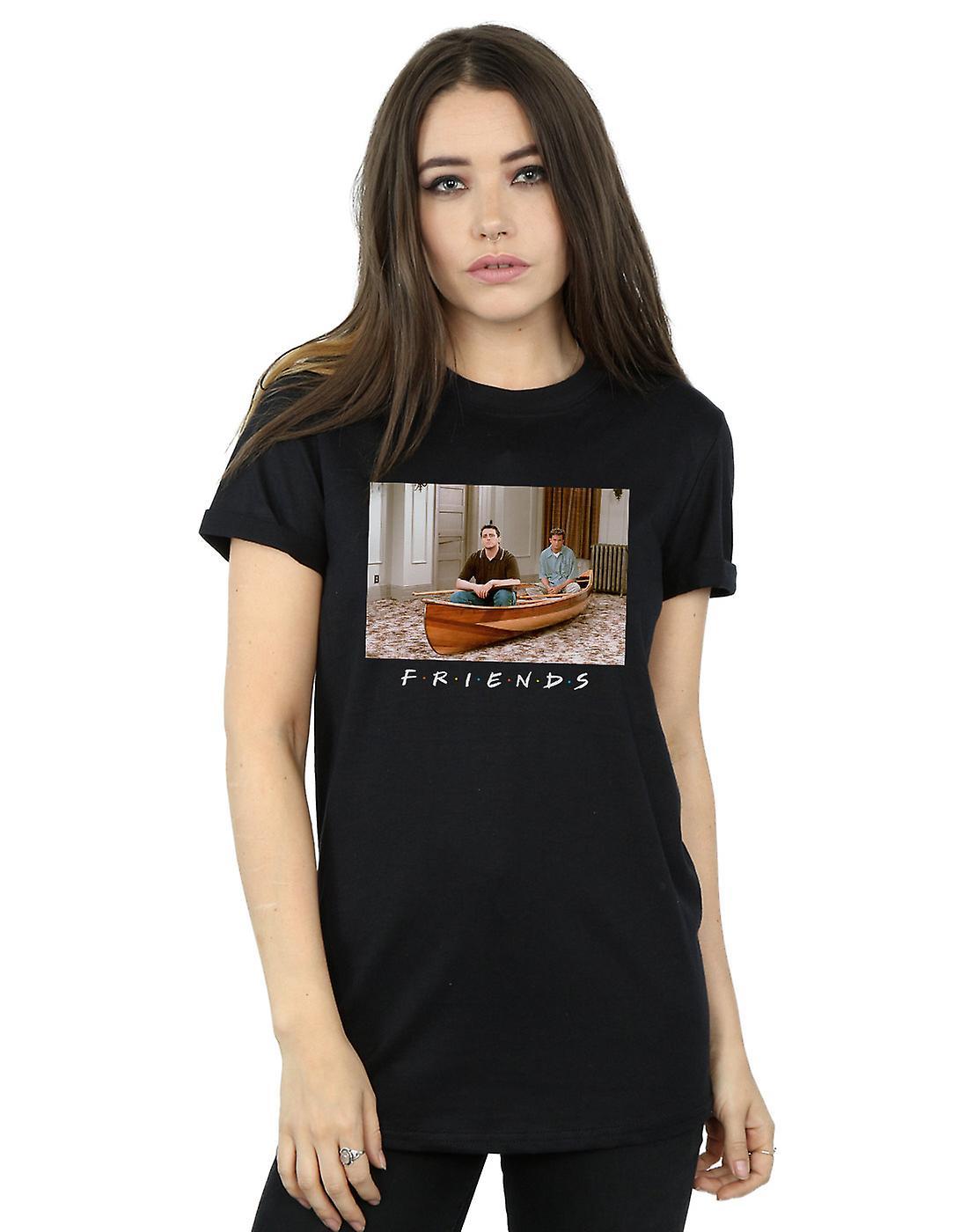 Friends Women's Joey And Chandler Boat Boyfriend Fit T-Shirt