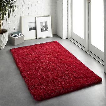 Alfombras Chicago rojo rectángulo alfombras llano casi llanos