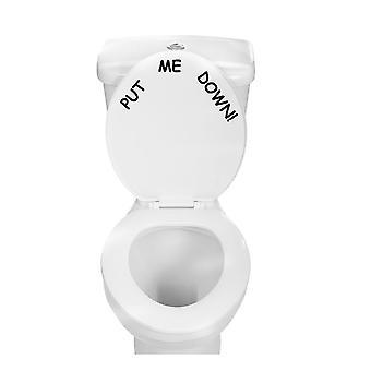 وضع لي أسفل المرحاض شارات لاصقة