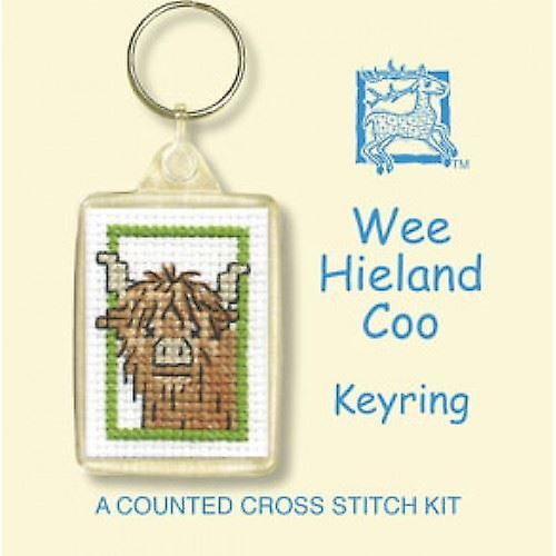 Textile Heritage Counted Cross Stitch Wee Hieland Coo Keyring Kit