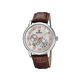 Festina watch Chronograph automatic men's watch with leather F6858-2