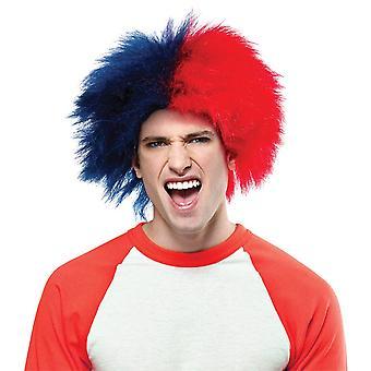 Esportes diversão peluca azul vermelho