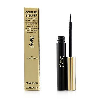 Yves Saint Laurent Couture Liquid Eyeliner - # 11 Metallic Grey - 2.95ml/0.09oz