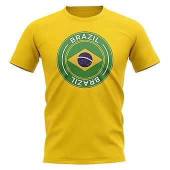Brazil Football Badge T-Shirt (Yellow)