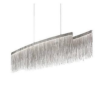 Led Oval Ceiling Pendant Bar Light Chrome