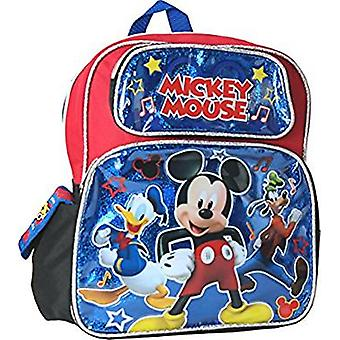 Small Backpack - Disney - Mickey Mouse Duck Goofy Black 12