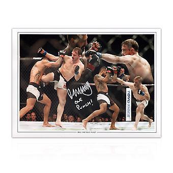 Brad Pickett Signed UFC Montage