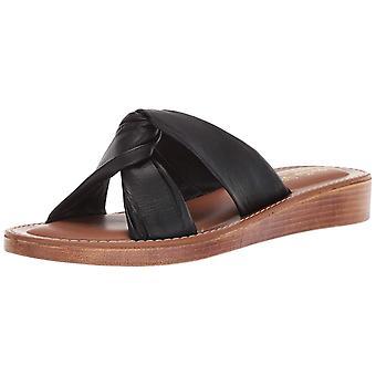 Bella Vita Womens Noa-Italy Leather Open Toe Casual Slide Sandals