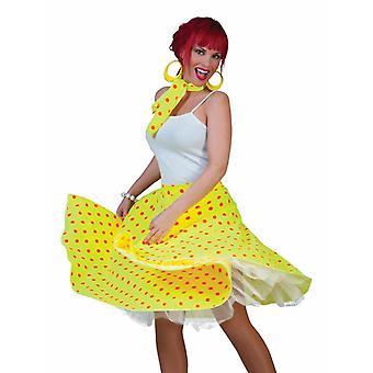 Polka prikker skjørt dame kostyme Skirt'n roll dame drakt