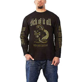 Sick Of It All T Shirt Panther New York Hardcore Official Mens Black Long Sleeve
