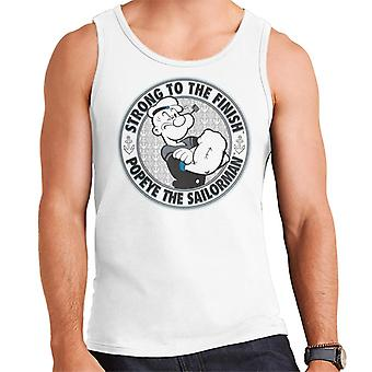 Popeye The Sailorman Strong To The Finish Men's Vest