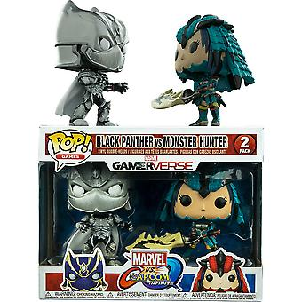 Marvel v Capcom Inf Black Panther & Monster Hunter Pop 2Pk 2