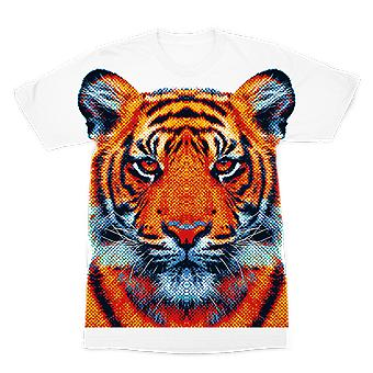 Tiger - colorful animals premium sublimation adult t-shirt