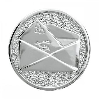 Nikki Lissoni Love Letter Medium Silver Coin C1009SM