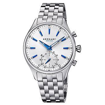 Kronaby S3121-1 Men's Sekel Smartwatch Silver Tone Dial
