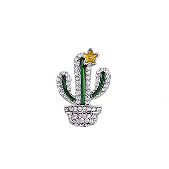 Fable Womens/Ladies Cactus Brooch
