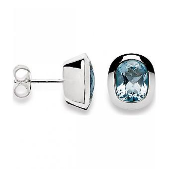 باستيان inverun - الأقراط مسمار الفضة مع توبا زرقاء - 20630