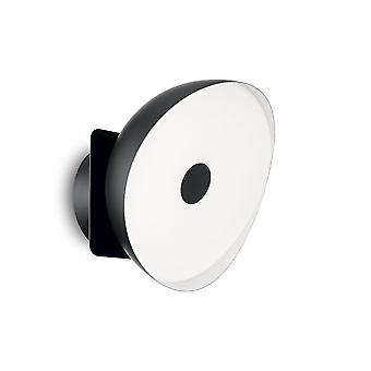 Ideal Lux Barby Integrated LED 1 Light Wall Light Black IDL190815