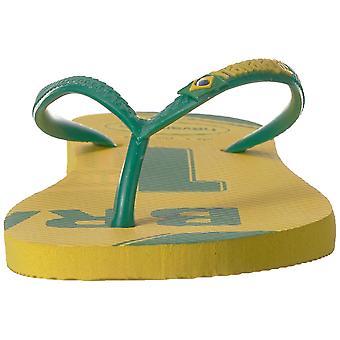 Havaianas naiset ' s Slim teams-Brasilia sandaalinen, sitrus keltainen 35/36 br (6 M US)