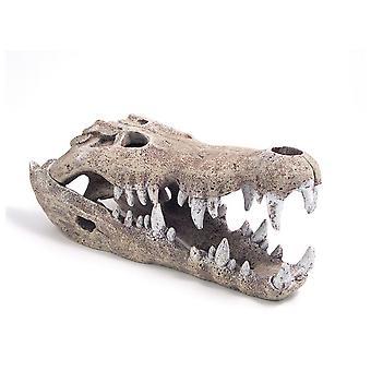 Ruusupuu sininen nauha Nile Crocodile Ornamentti